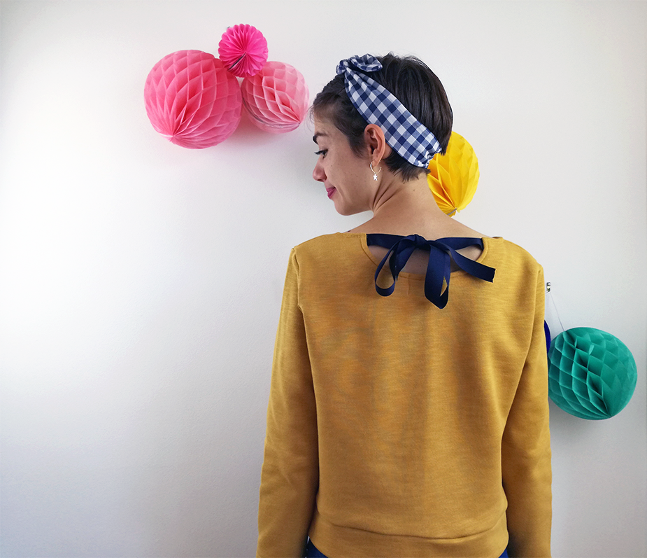 Creative Therapy: Cocowawa Chestnut Sweater Version A mustard back