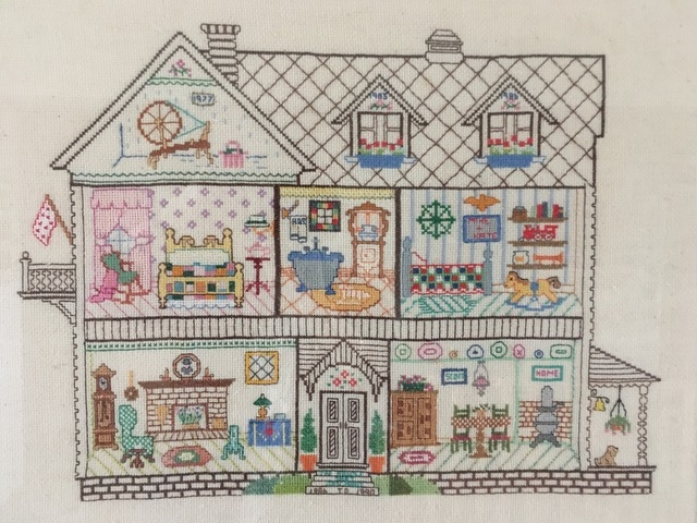 Creative Therapy: Jan Scott house cross stitch