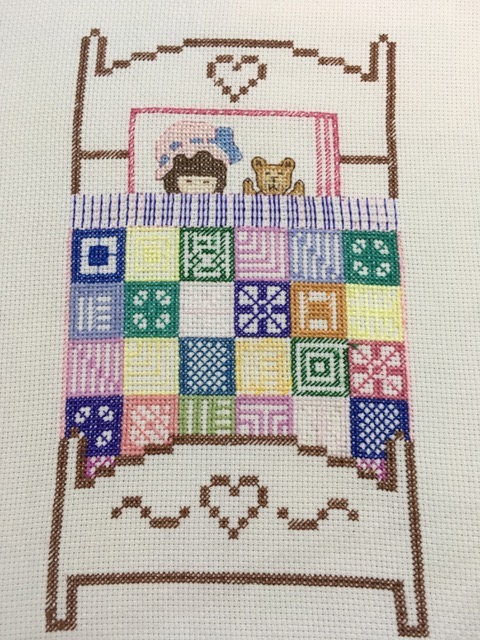 Creative Therapy: Jan Scott cross stitch bed