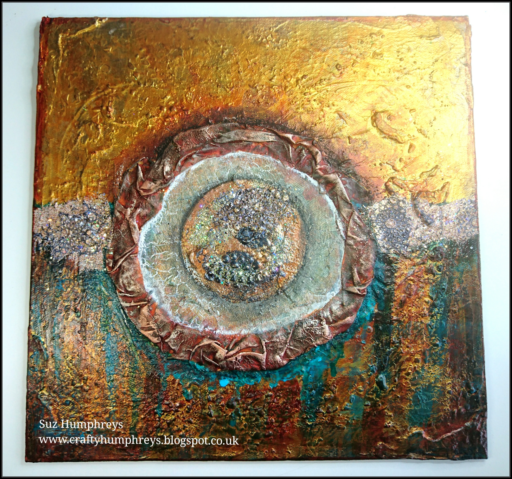 Creative Therapy: Suz Humphreys Mixed media stamping into Frantage