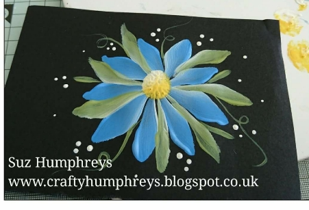 Creative Therapy: Suz Humphreys Daisy Painting Design