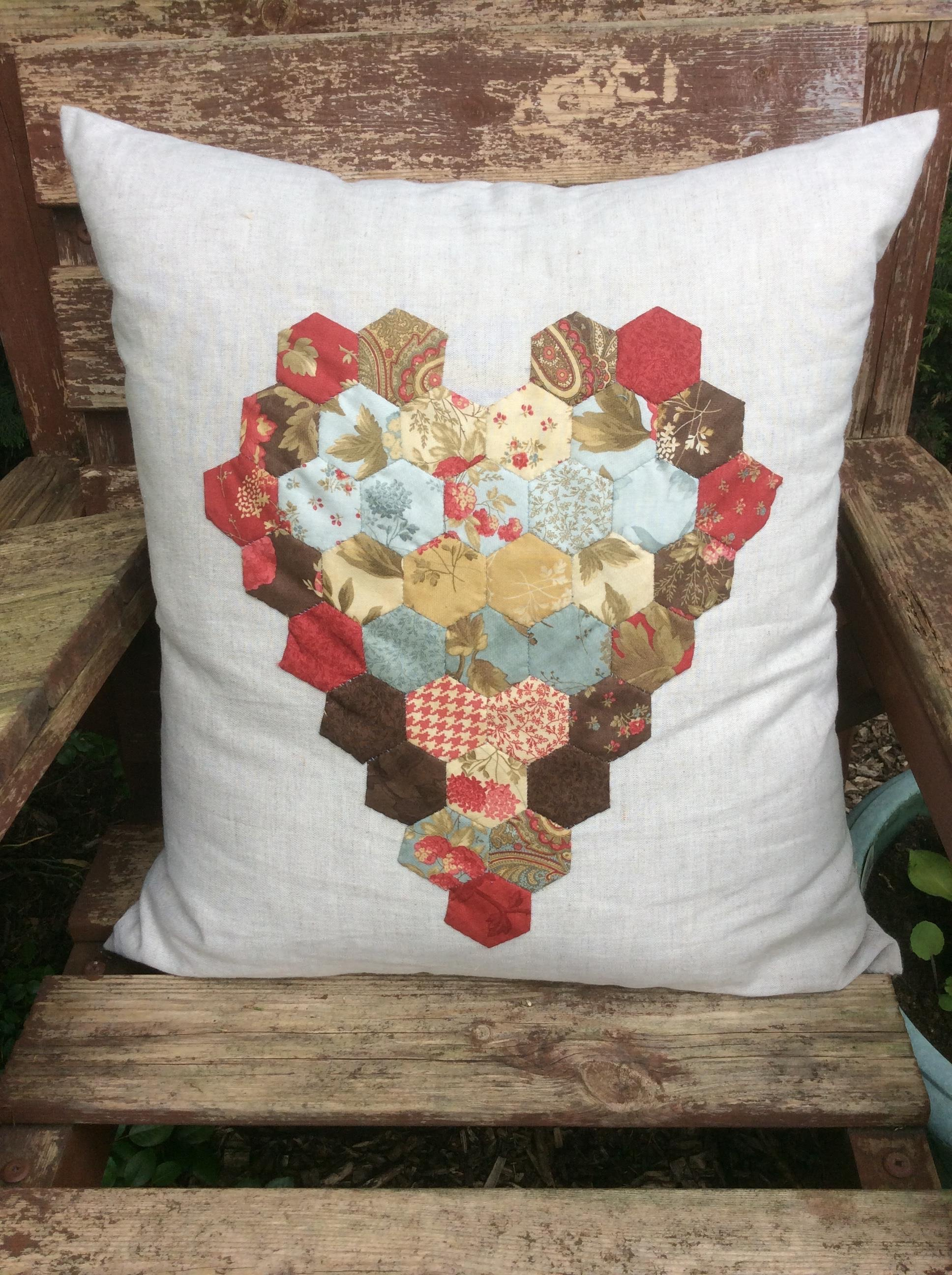 Creative Therapy Helen Kent Heart Cushion